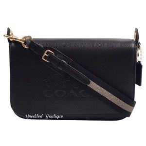 COACH Jes Leather Messenger Shoulder Bag